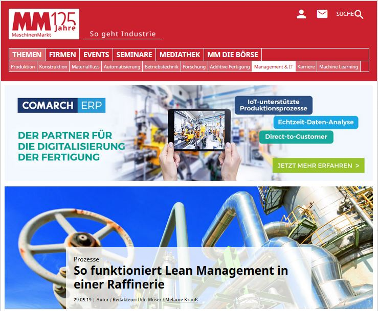 MM-MaschinenMarkt / Lean-Management in einer Raffinerie